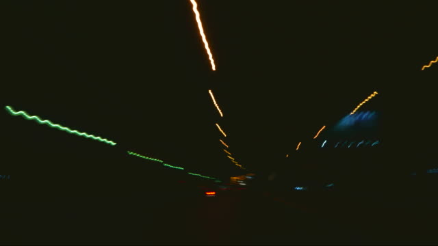 Night driving timelapse