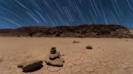 Night Exposure of a Desert Landscape