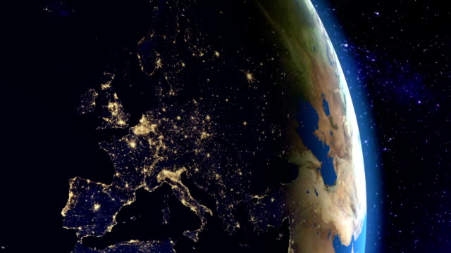 Night in Europe from space