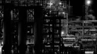 Night Refinery BW