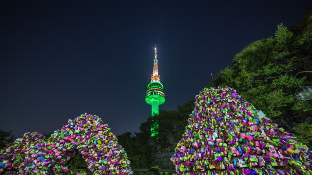 Image result for n seoul tower at night