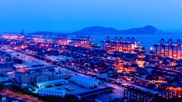 Nacht Szene der Hafen, Zeitraffer