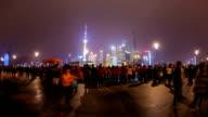 Night scene of Oriental Pearl TV Tower ,Shanghai, China.
