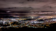 Night Scenery from Mountain Peak(Insubong) at Mt. Bukhansan
