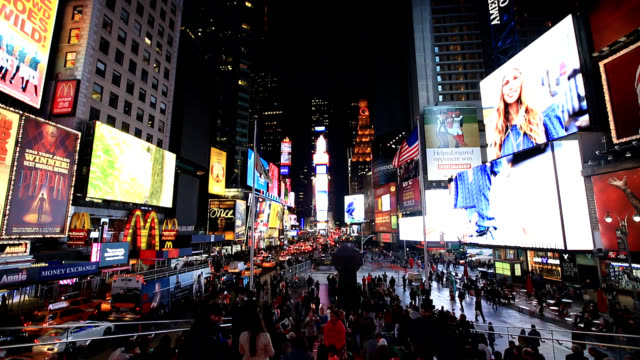 Night scenery of Times Square in NewYork