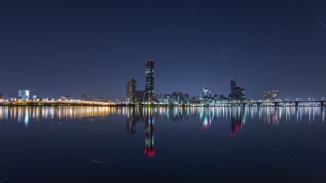 Night Scenery of Yeouido Business District with 63 Building