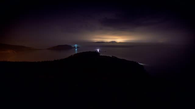 Night scenery view of Deokjeokdo Island (Famous travel destination in Korea)