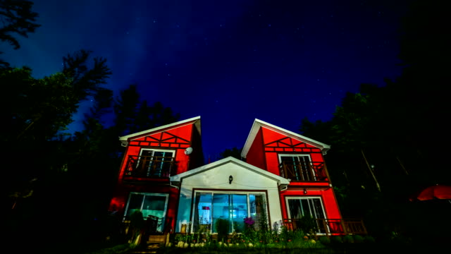 Night scenery view of Paensyeon (Resort pension in the forest)