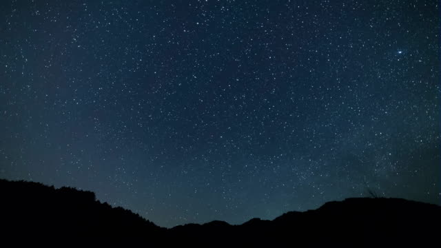 Night Scenery view of Star Field and the Plough