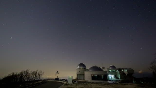 Night scenery view of star field over ChoKyungChul Observatory