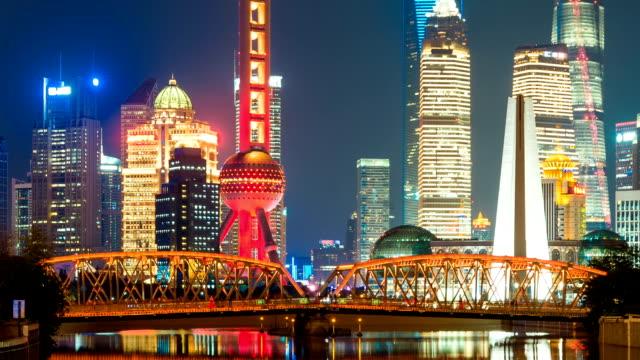 T/L Night Shanghai Lujiazui Financial District
