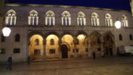Night shot of the portico of the Rector's Palace, Dubrovnik