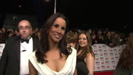 Night shots Andrea McLean Loose Women host chatting to press on the red carpet at the National Television Awards Andrea McLean at National Television...