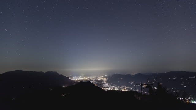 T/L Night sky over Berchtesgaden