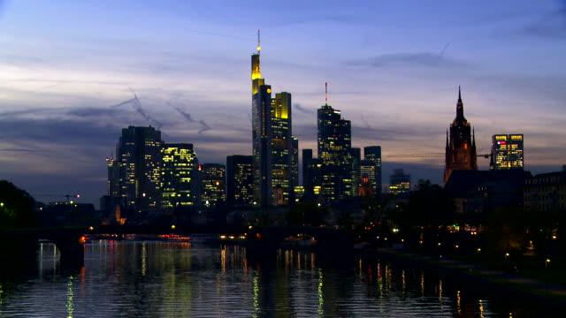 Night Skyline Of Frankfurt Am Main