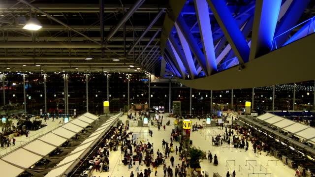 Night Suvarnabhumi Airport Bangkok