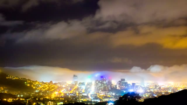 Night Time Cityscape Timelapse