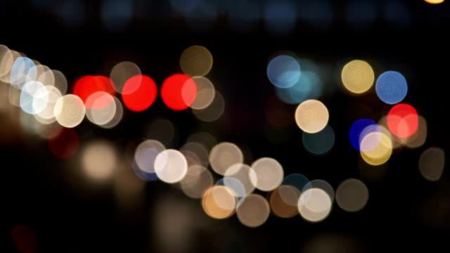 Night traffic bokeh light