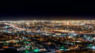 Night Traffic from above of EL Paso and Juarez