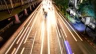 Night Traffic jam in the city