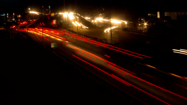 Night Traffic Timelapse