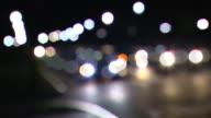HD Night Urban Traffic Defocus Looping (1080/24P)