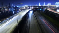 Night view from Burnside Bridge, time lapse[BR]
