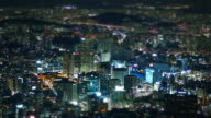 MS T/L Night view of Central Area / Seoul, South Korea