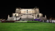 WS Night view of Monument to Vittorio Emanuele II / Rome, Italy
