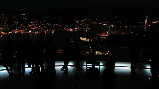 WS PAN Night view of Nagasaki / Nagasaki, Nagasaki Prefecture, Japan