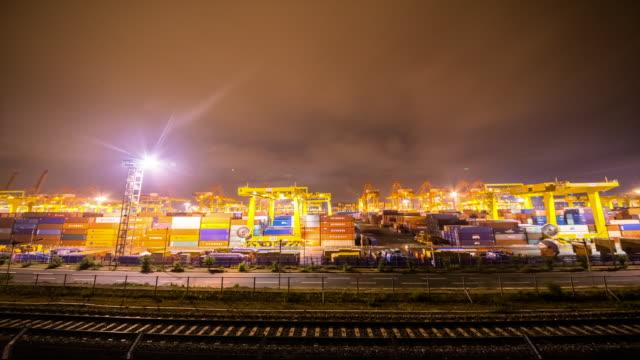 Night view of Sinhangman harbor