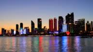 Night view of the beautiful city of Qingdao