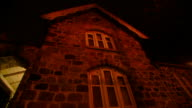 NIGHT1080i HD TU Stone Greek Revival gatehouse sexton's residence exterior wall w/ windows TD PAN Building
