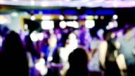 Nightclub dancing people