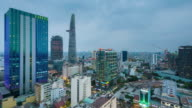 Nightfall Timelapse in Ho Chi Minh City, Vietnam