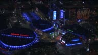 KTLA Nighttime Aerials of Staples Center in Downtown Los Angeles Skyline on March 4th 2015