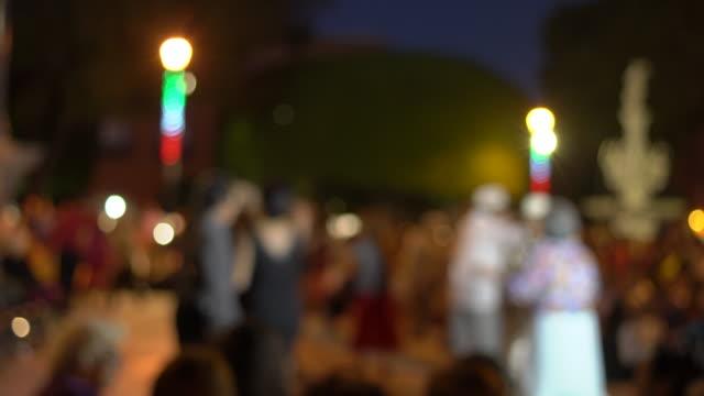 Nighttime dancing in Jardín Zenea, Queretaro