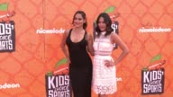 Nikki Bella and Brie Bella at the Nickelodeon Kids' Choice Sports Awards 2016 at UCLA's Pauley Pavilion on July 14 2016 in Westwood California