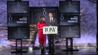 SPEECH Nikki James and Andrew Rannells announce nominees for Best Book of a Musical at The Tony Awards Nominations Announcement at The Paramount...