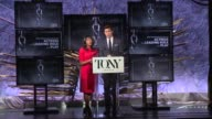 SPEECH Nikki James and Andrew Rannells announce nominees for Best Performance by an Actress in a Leading Role in a Play at The Tony Awards...