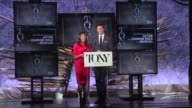 SPEECH Nikki James and Andrew Rannells announce nominees for Best Performance by an Actor in a Leading Role in a Musical at The Tony Awards...