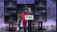 SPEECH Nikki James and Andrew Rannells announce nominees for Best Performance by an Actor in a Featured Role in a Play and Best Performance by an...