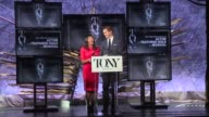 SPEECH Nikki James and Andrew Rannells announce nominees for Best Performance by an Actor in a Featured Role in a Musical and Best Performance by an...
