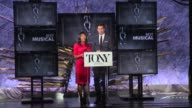 SPEECH Nikki James and Andrew Rannells announce nominees for Best Musical at The Tony Awards Nominations Announcement at The Paramount Hotel on May...
