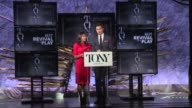 SPEECH Nikki James and Andrew Rannells announce nominees for Best Revival of a Play and Best Revival of a Musical at The Tony Awards Nominations...