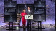SPEECH Nikki James and Andrew Rannells welcome the audience and discuss how to find out more information about the Tony Awards at The Tony Awards...