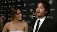 INTERVIEW Nikki Reed and Ian Somerhalder at 16th Annual InStyle And Warner Bros Golden Globe AfterParty on January 11 2015 in Beverly Hills California