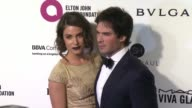 Nikki Reed and Ian Somerhalder at Elton John AIDS Foundation Presents 24th Annual Academy Awards Viewing Party on February 28 2016 in West Hollywood...