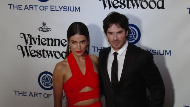 Nikki Reed and Ian Somerhalder at the The Art of Elysium's Ninth Annual Heaven Gala at 3LABS on January 9 2016 in Culver City California