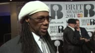 INTERVIEW Nile Rodgers on his year being at awards who he's working with next at The BRIT Awards 2014 Arrivals at O2 Arena on February 19 2014 in...
